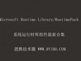 [系统组件]Microsoft RuntimePack运行时库组件下载,RuntimePack v20.03.03 Full 纯净安装版
