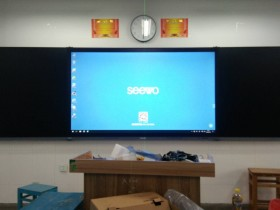 精雕细琢 方出精品,希沃B86EB智慧黑板施工安装图文教程特例